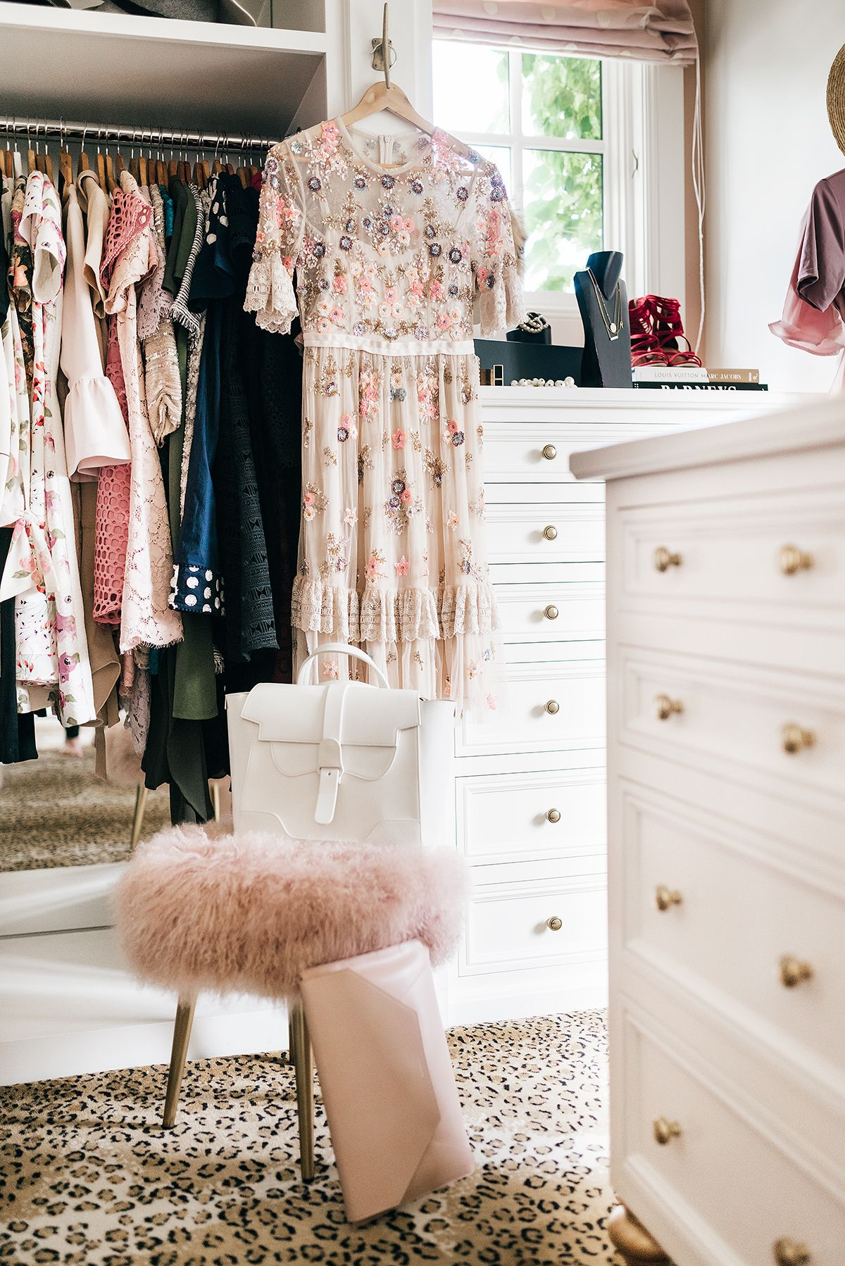 My newest accessory peony dressing room and master closet for Rachel parcell closet