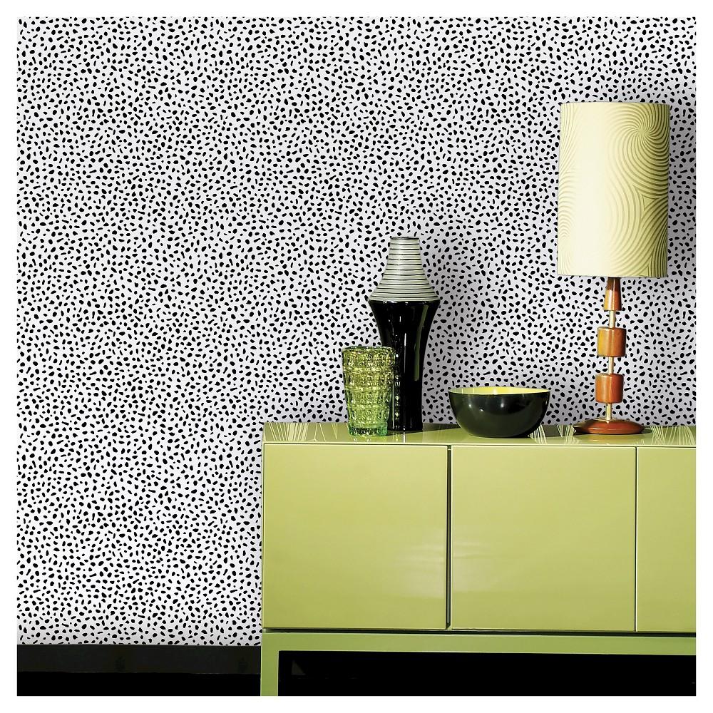 Speckled Dot Peel Stick Wallpaper Black Opalhouse Peel And Stick Wallpaper Best Removable Wallpaper Removable Wallpaper