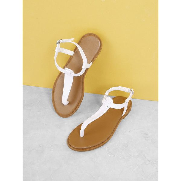 8ac6d0b5a Toe Post Flat Sandals ( 16) ❤ liked on Polyvore featuring shoes ...