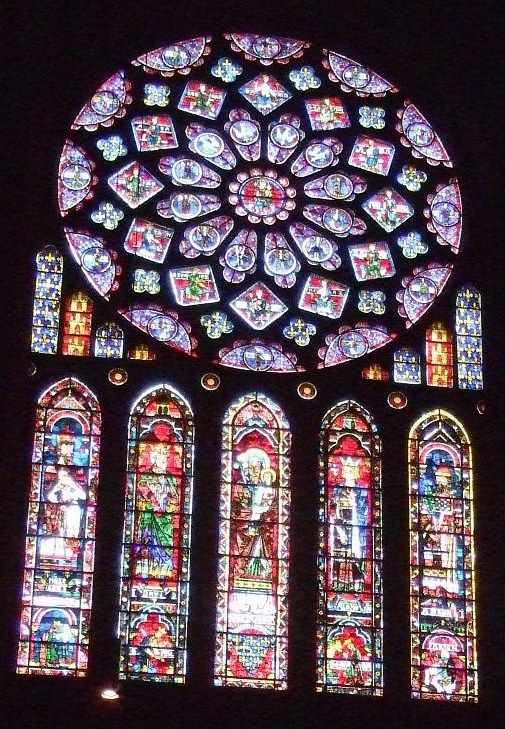 Gothic Stained Glass Medieval Stained Glass Rose Window Stained Glass Church