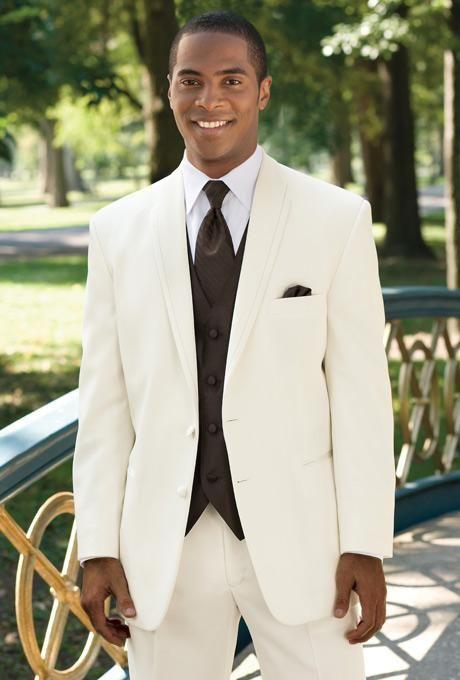 Gorgeous Ivory Blazer Tuxedos Wedding Groom Suits For Men Slim Fit ...
