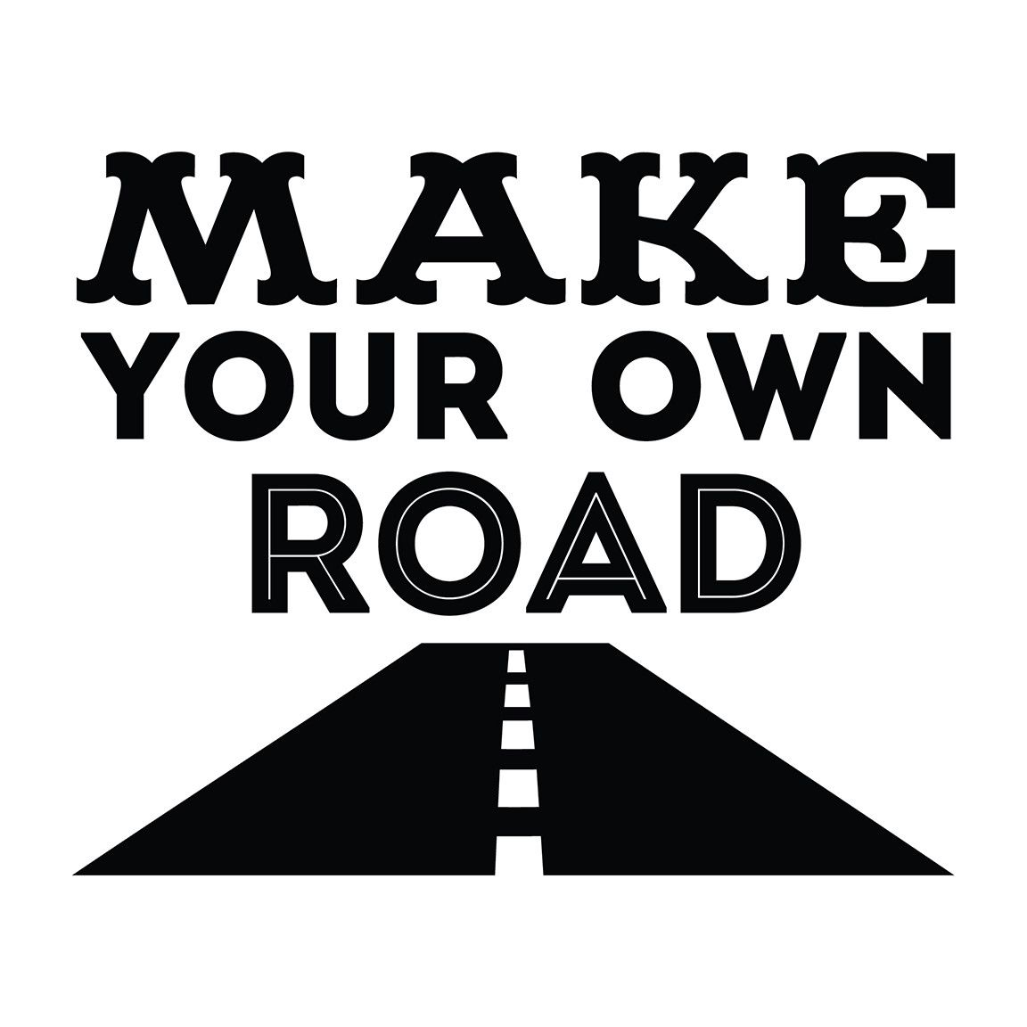 Make Your Own Quote Make Your Own Road  Office Quote Wall Decals  Quote Wall Decals