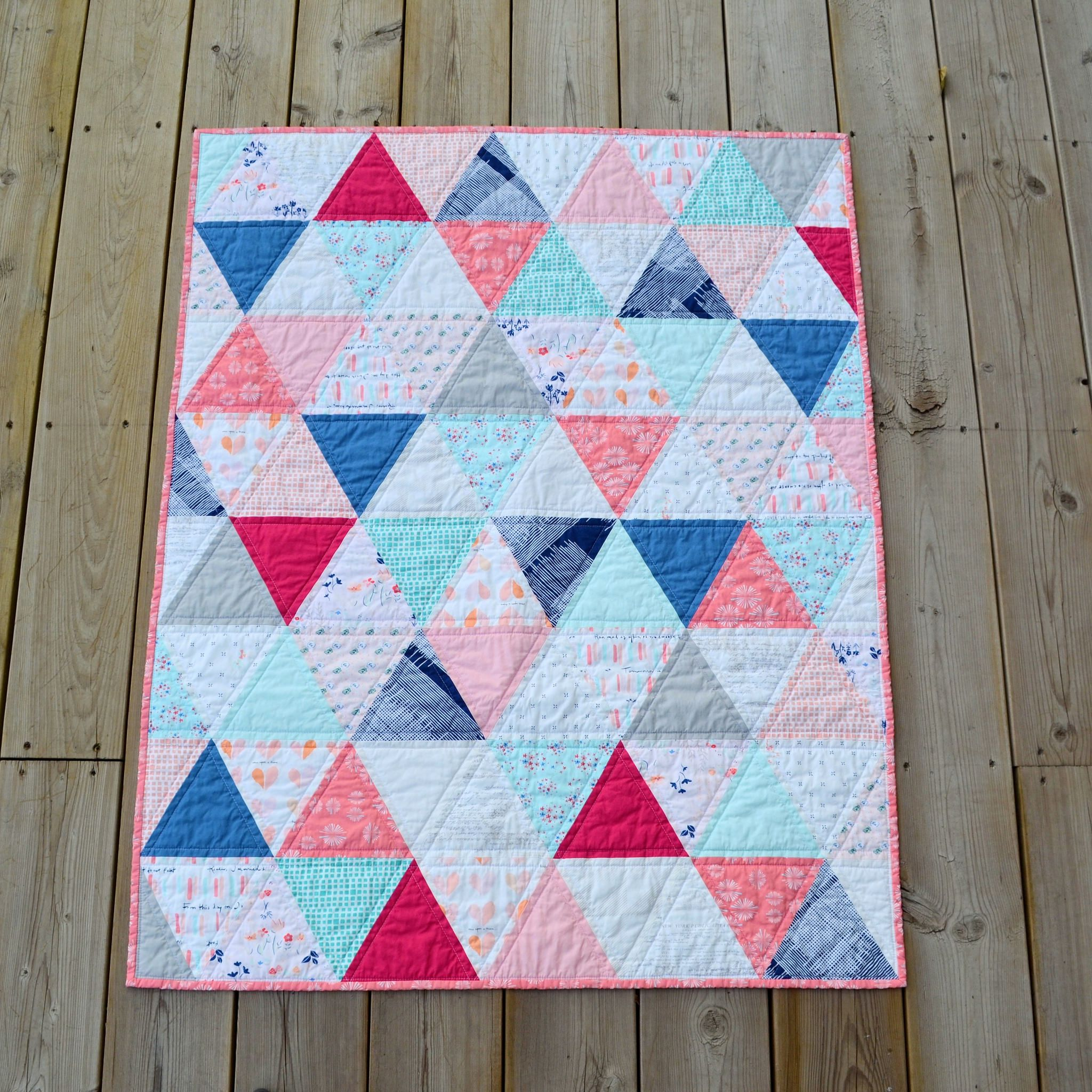Paperie Triangle Baby Quilt Art