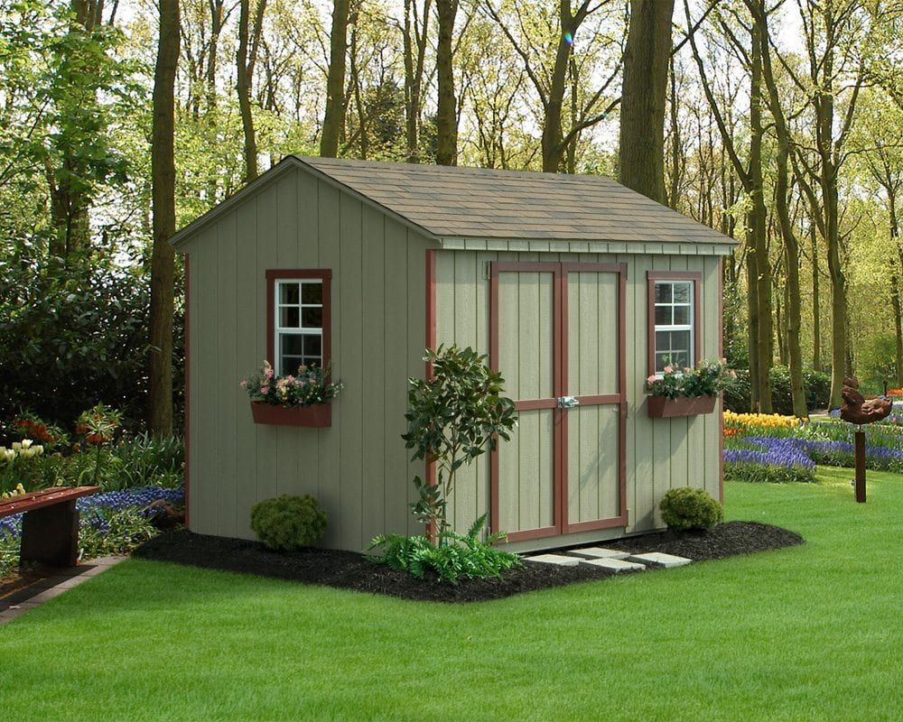 Custom Amish Made Painted Sheds In The Lehigh Valley Backyard Sheds Plans Painted Shed Shed Building A Shed