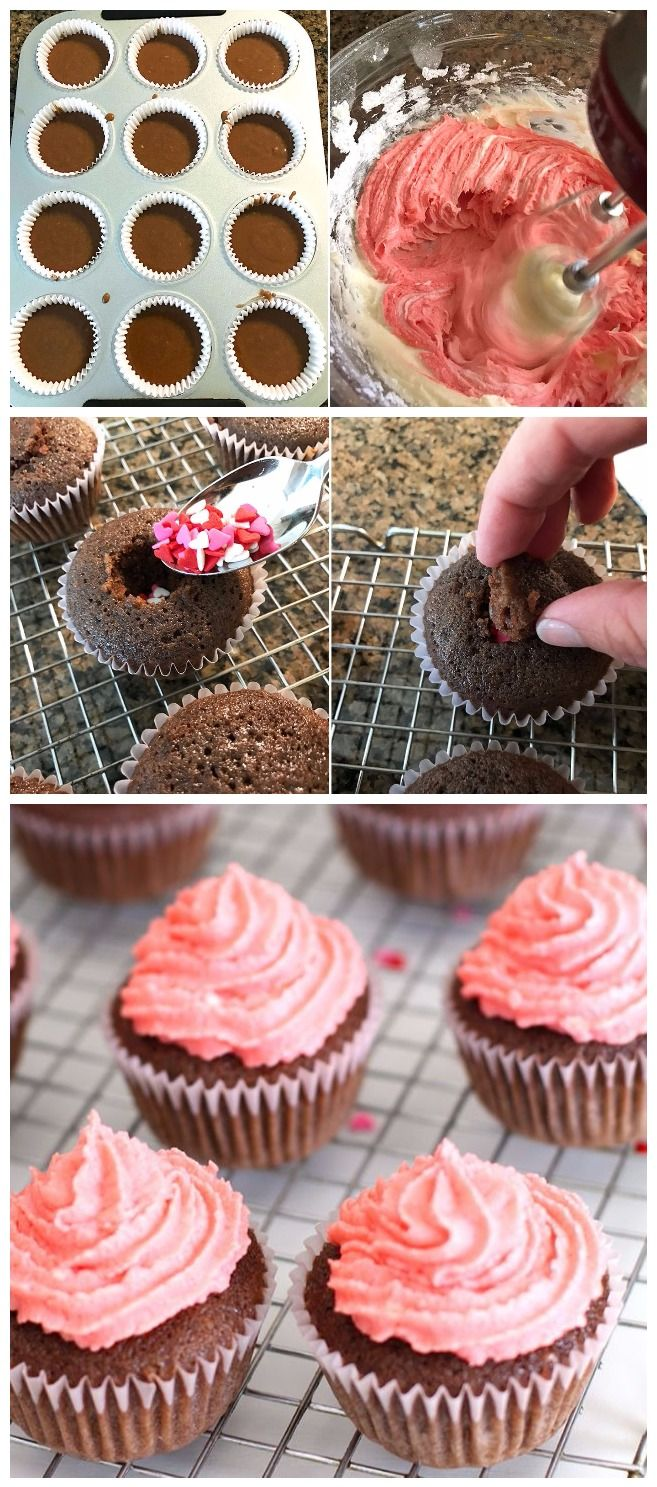 Chocolate Sweetheart Cupcakes (With images)   Chocolate ...