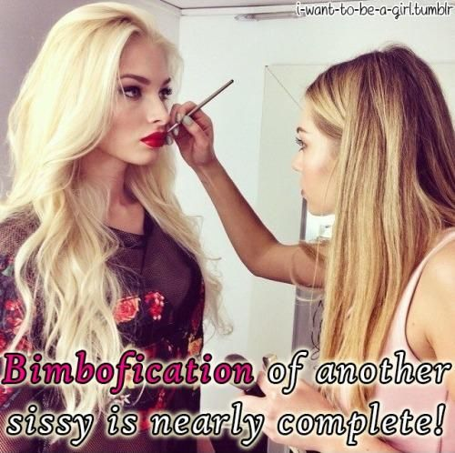 Now Boys Kiss And Makeup: Bimbofication Of Another Sissy Is Nearly Complete