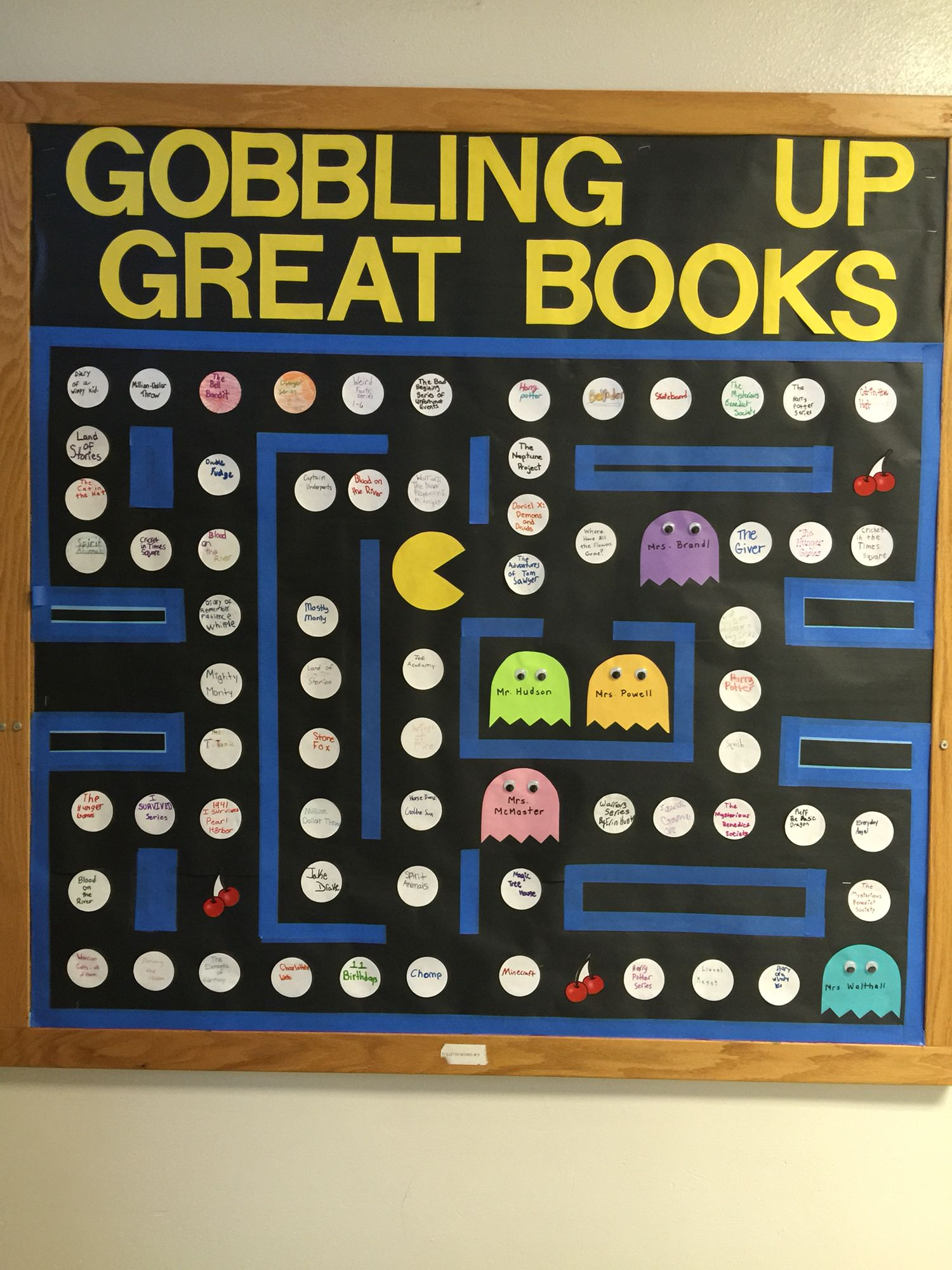 Classroom Game Ideas : Game theme pac man reading bulletin board classroom