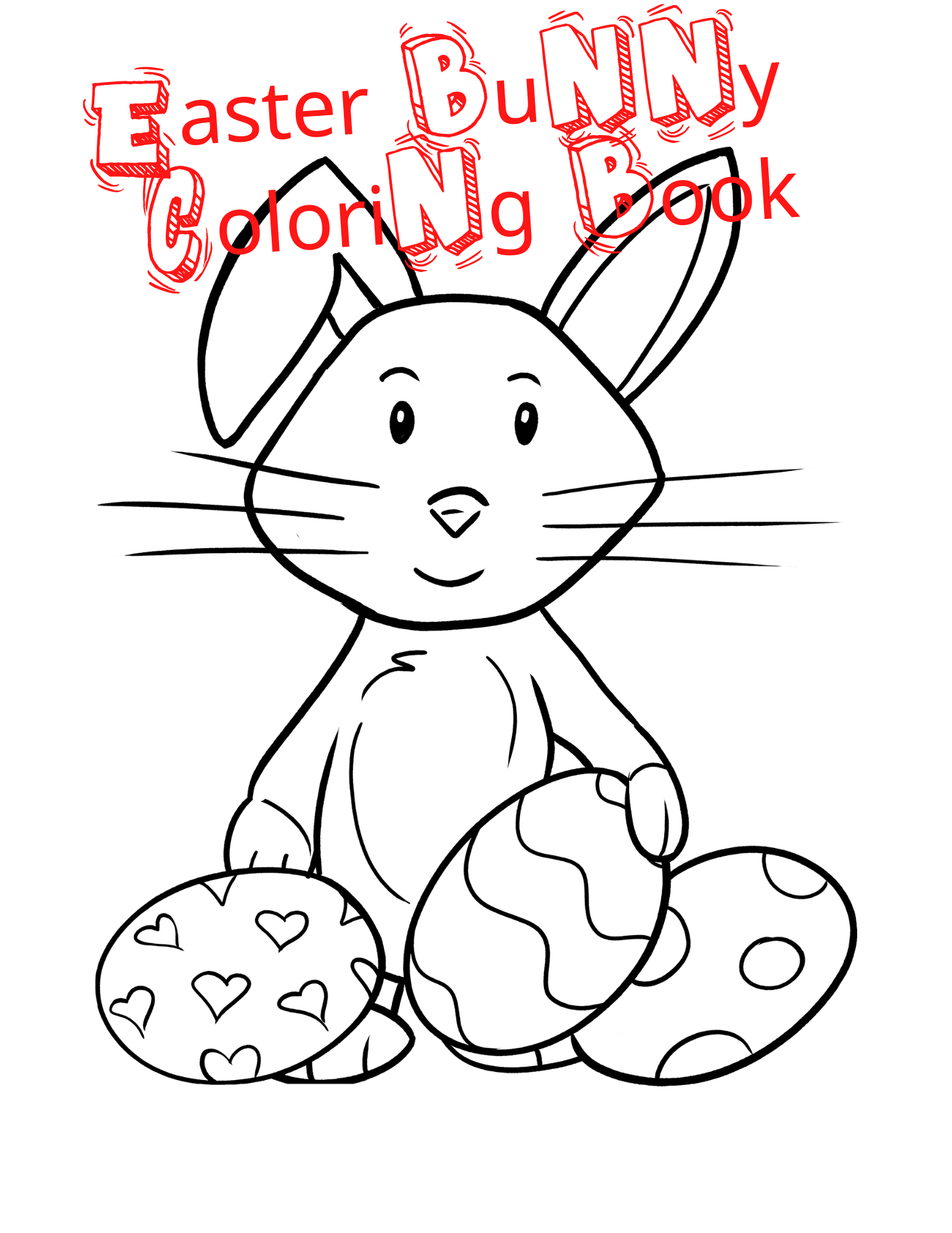 Happy Easter Coloring Book For Kids In 2020 Toddler Coloring Book Easter Coloring Book Bunny Coloring Pages