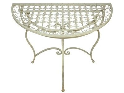 Stolik Przyscienny Metalowy Na Balkon Taras 126 6040408531 Oficjalne Archiwum Allegro Outdoor Furniture Furniture Outdoor Table