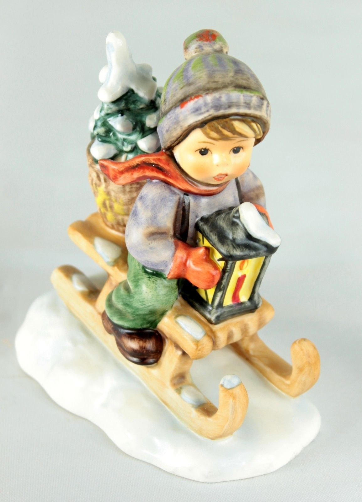Hummel christmas tree ornaments - Goebel Hummel 396 2 0 Ride Into Christmas Boy On Sled Tree 4 25 Tmk