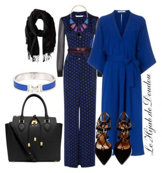 Photo of jumpsuit hijab outfit