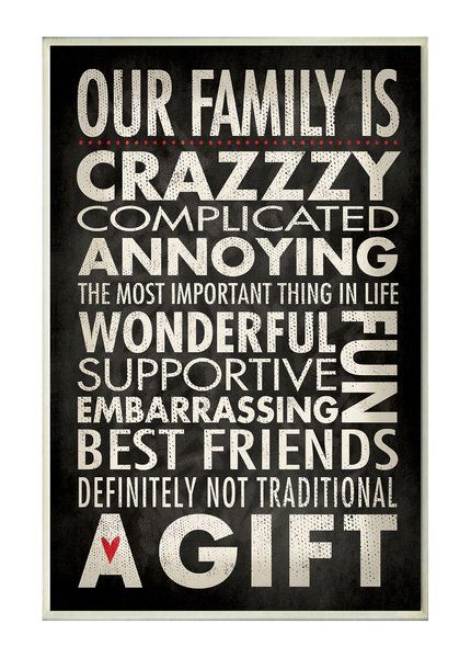 Winston Porter Our Family Is Crazzzy Inspirational Textual Art Wayfair Family Quotes Funny My Family Quotes Crazy Family Quotes
