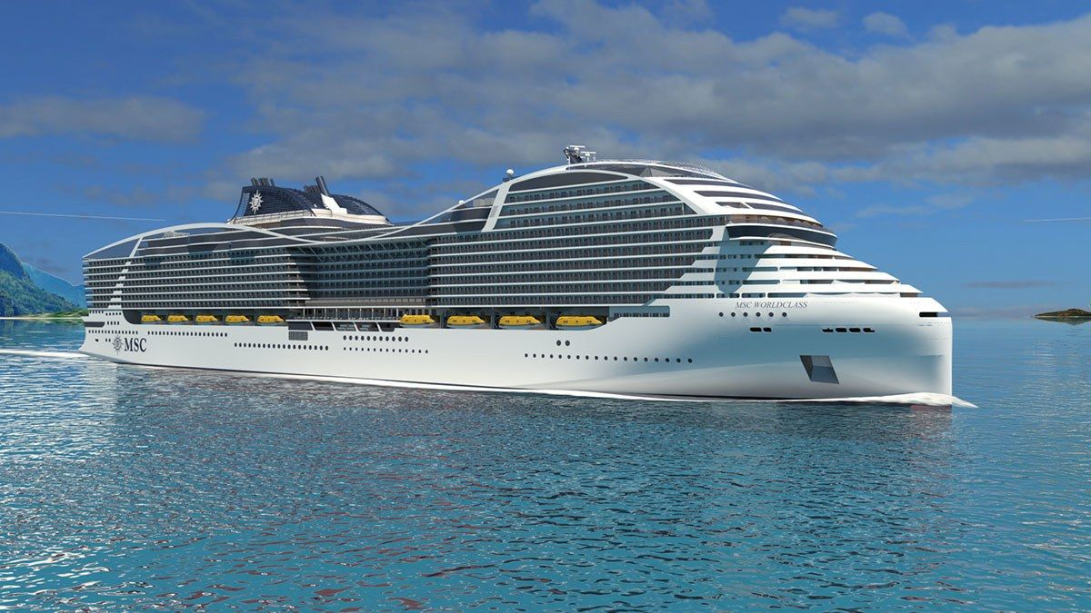 The World S Largest Cruise Ship Is Like A Floating Island Biggest Cruise Ship Msc Cruises Passenger Ship