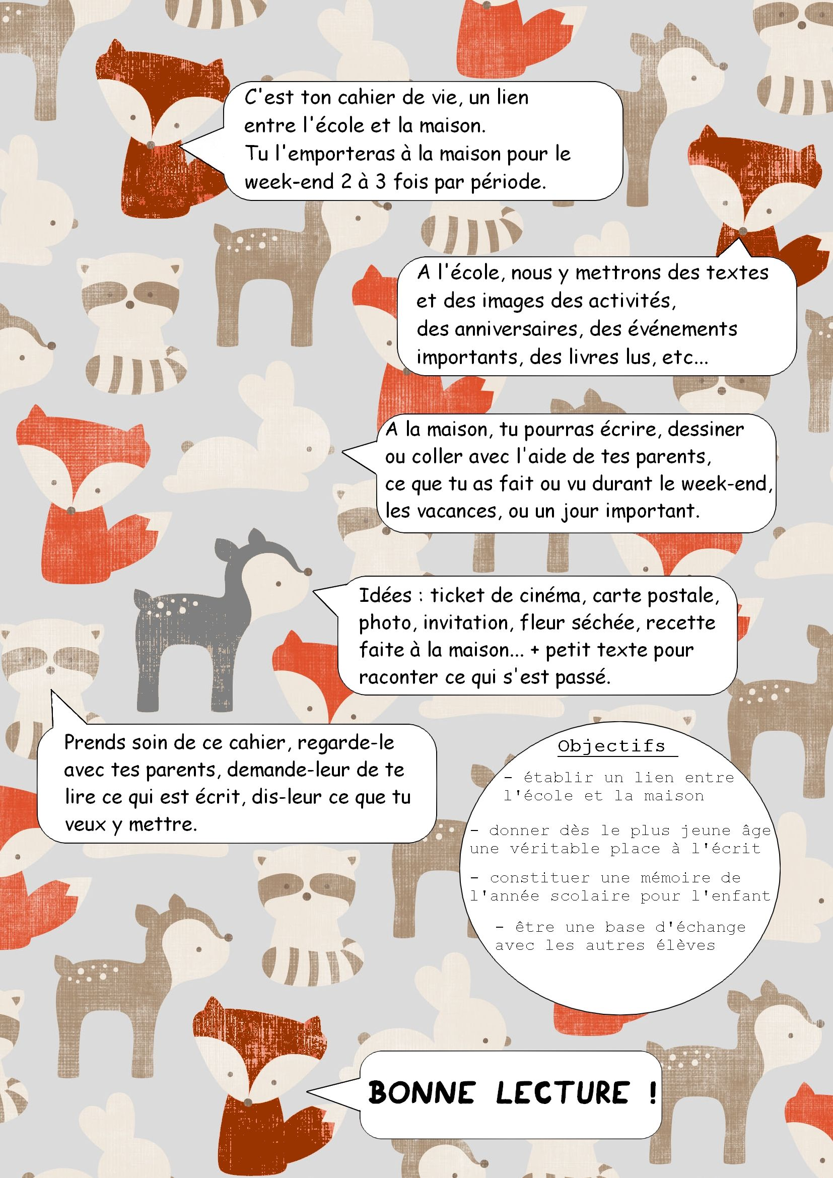 Cahier De Liaison Cahier De Vie Activities Pixel Words