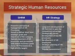 The Distinction Between Strategic Hrm And Hr Strategies Innovation Management Hr Management Human Resource Management