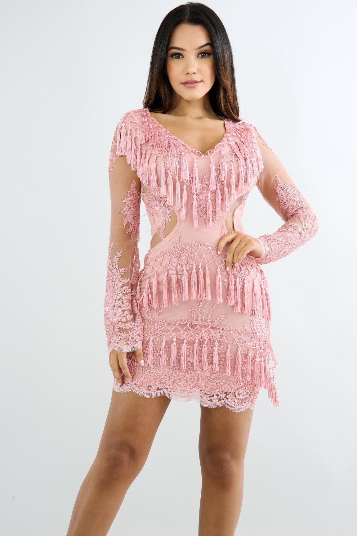 637b53b701b Frans Fringe Body Dress