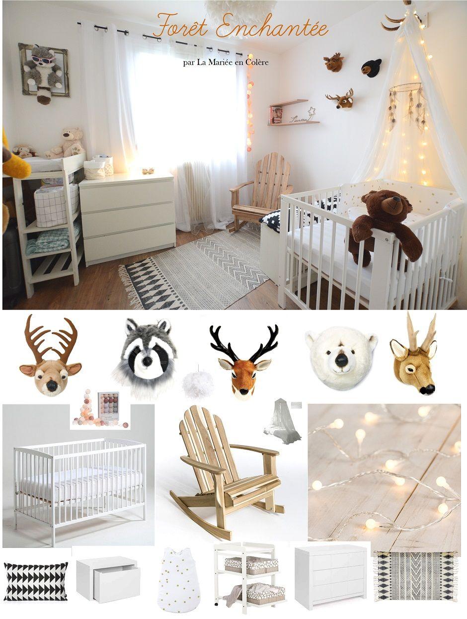 decoration chambre bebe foret enchantee