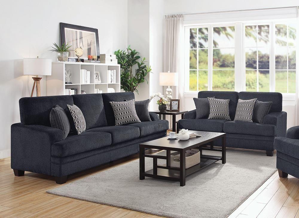 Stewart 2 Piece Living Room Set Grey As Shown Grey Couch Living Room Living Room Sets Dark Grey Couch Living Room