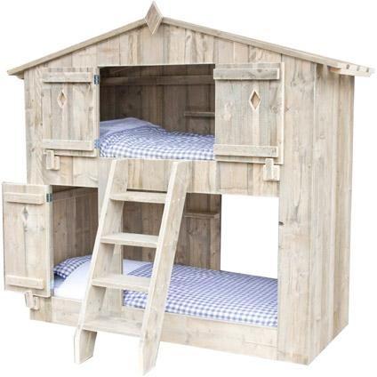 Steigerhout stapelbed boomhut praxis bed kids for Steigerhout praxis