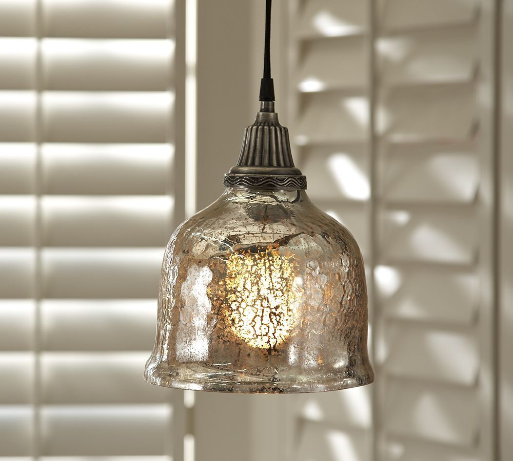 Mercury Glass Pendant Light Fixture