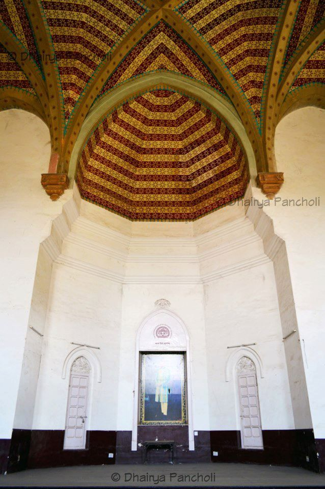 The Famous Dome Gumbaz Of Arts Faculty Msu From Inside With