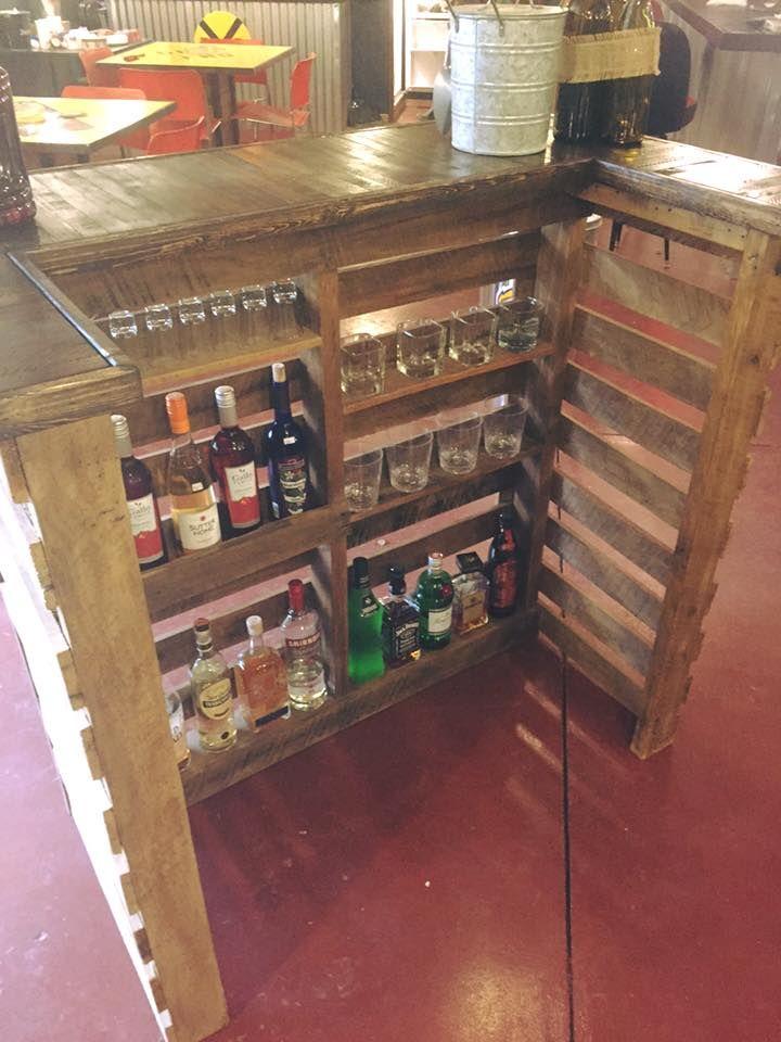Pallet Bar in 2019 | Wood pallet bar, Pallet bar, Pallet ...