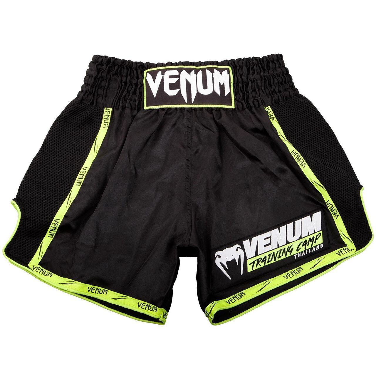 Black//Neo Yellow XS Venum Mens Giant Muay Thai Shorts