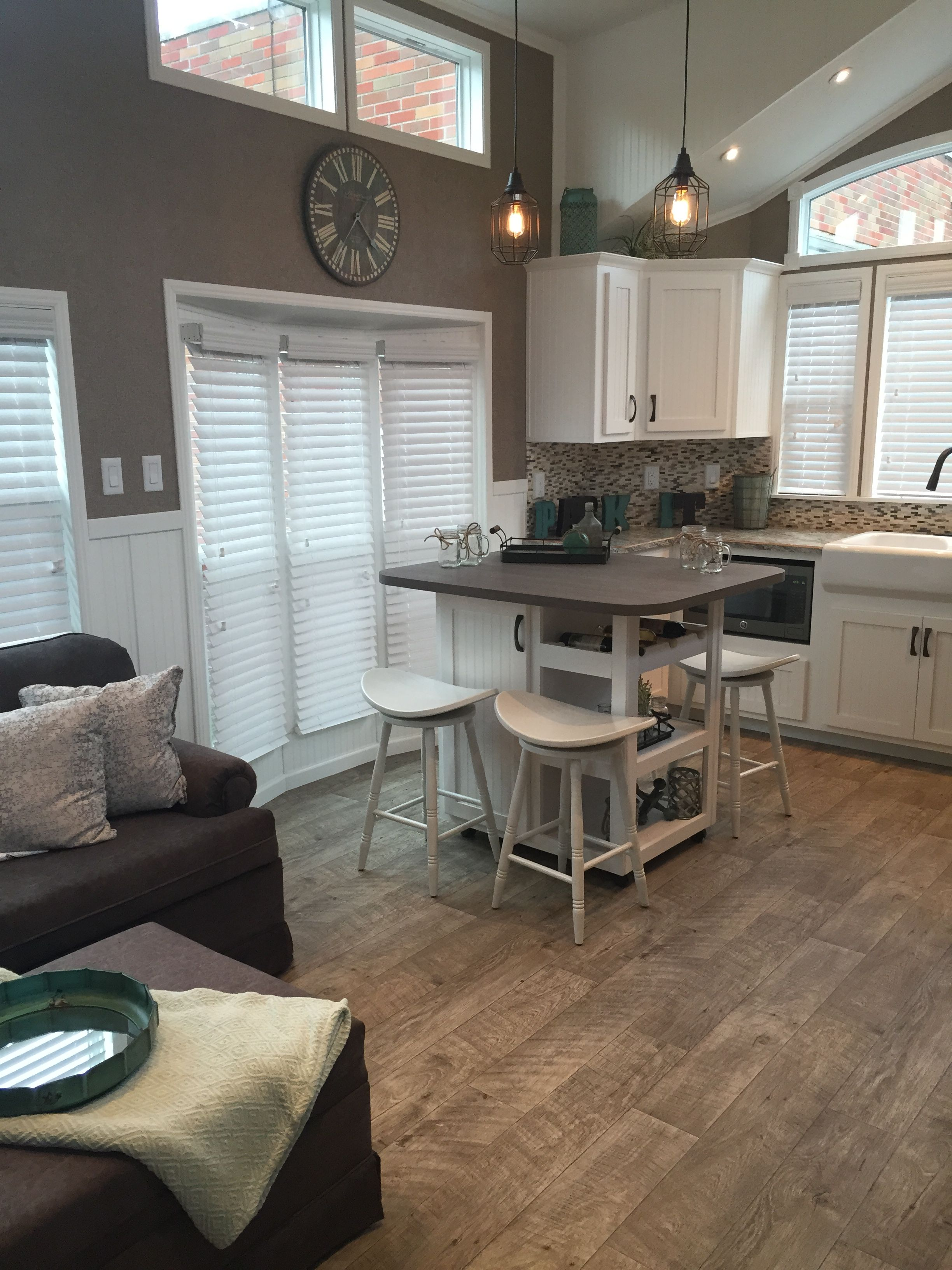 Model Homes Images Interior Kropf Island Cottage Park Model My Obsession Tiny
