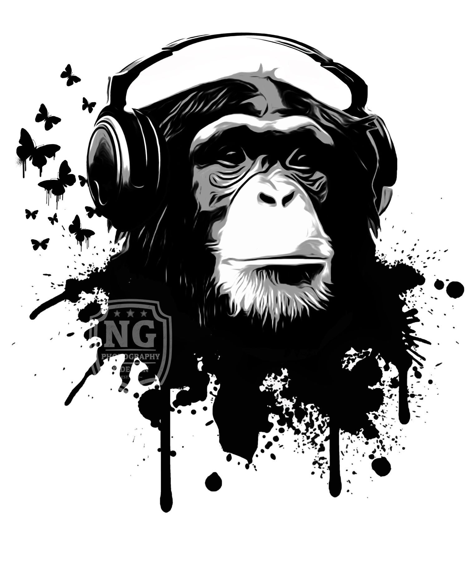 Cool Black And White Posters Monkey Business White Art Print By Nicklas Gustafsson