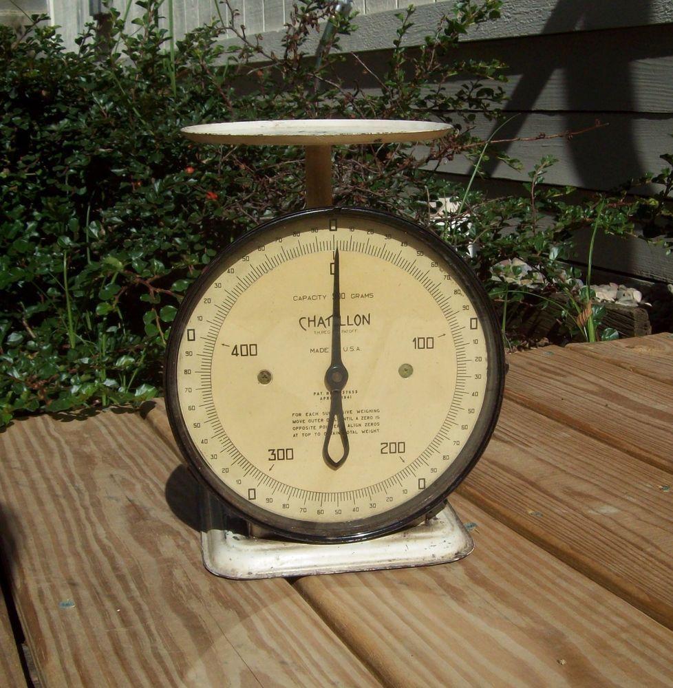 vintage chatillon capacity 500 grams dietary scale chatillon