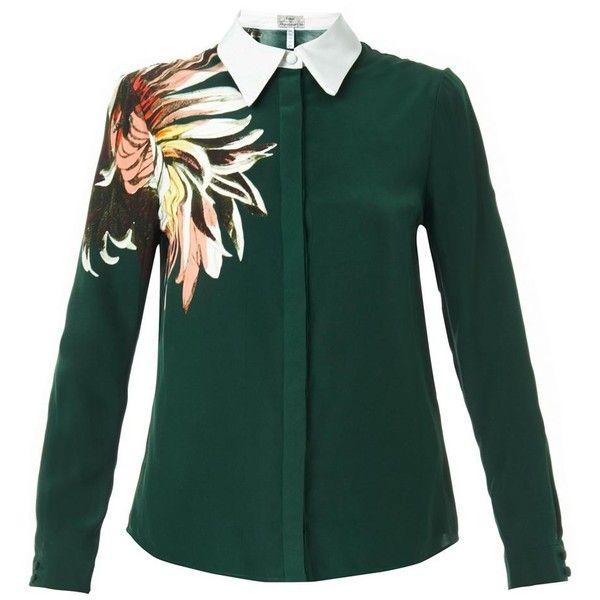 30643ee5 ERDEM Sloane garden-print silk blouse (735 CAD) ❤ liked on Polyvore ...