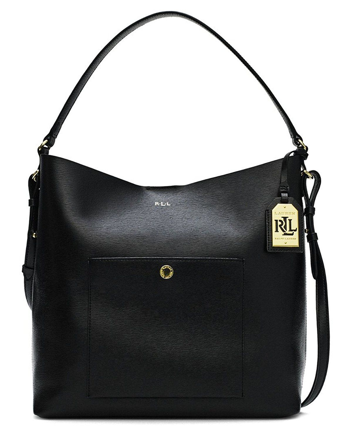 c553b3d8a7eab2 Lauren Ralph Lauren Newbury Pocket Leather Hobo Bag >>> Check out this great  product.