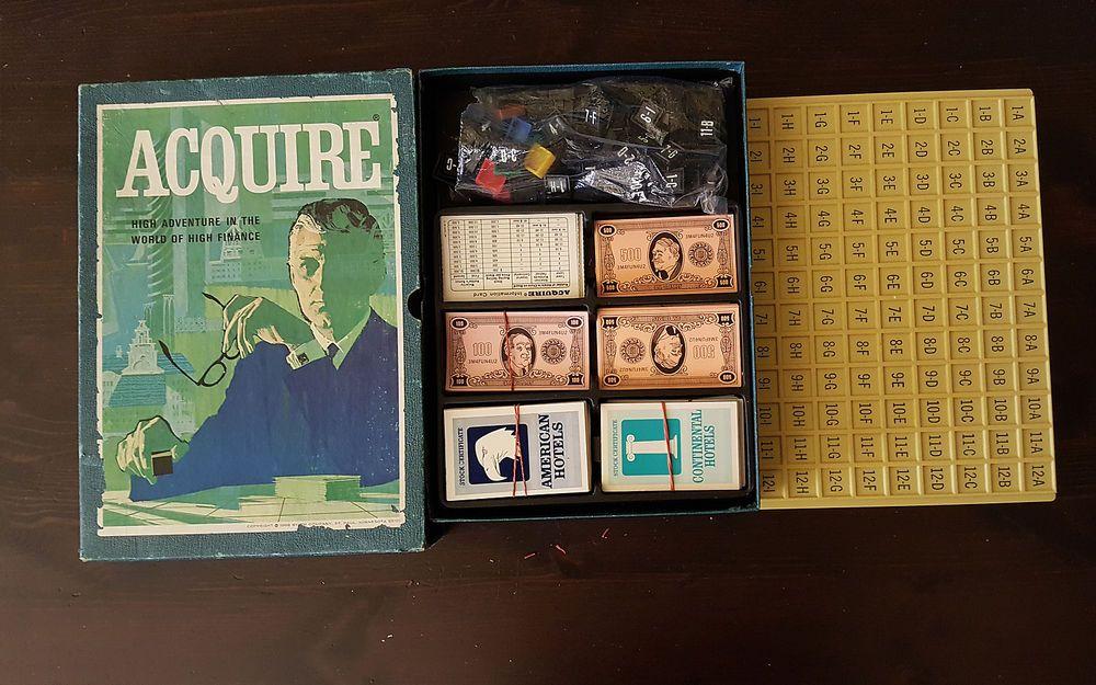 ACQUIRE REAL ESTATE BOARD GAME 3M Bookshelf 1968 RARE FOR