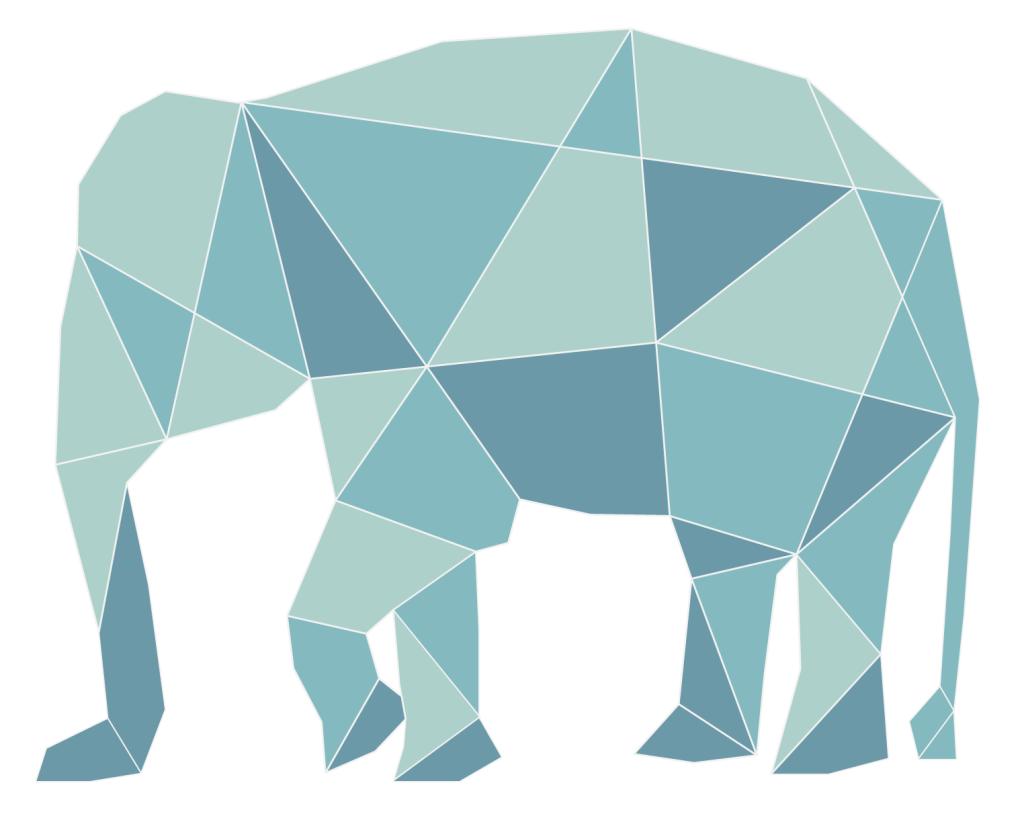 Geometric elephant zuk nftige projekte pinterest for Origami zimmer deko