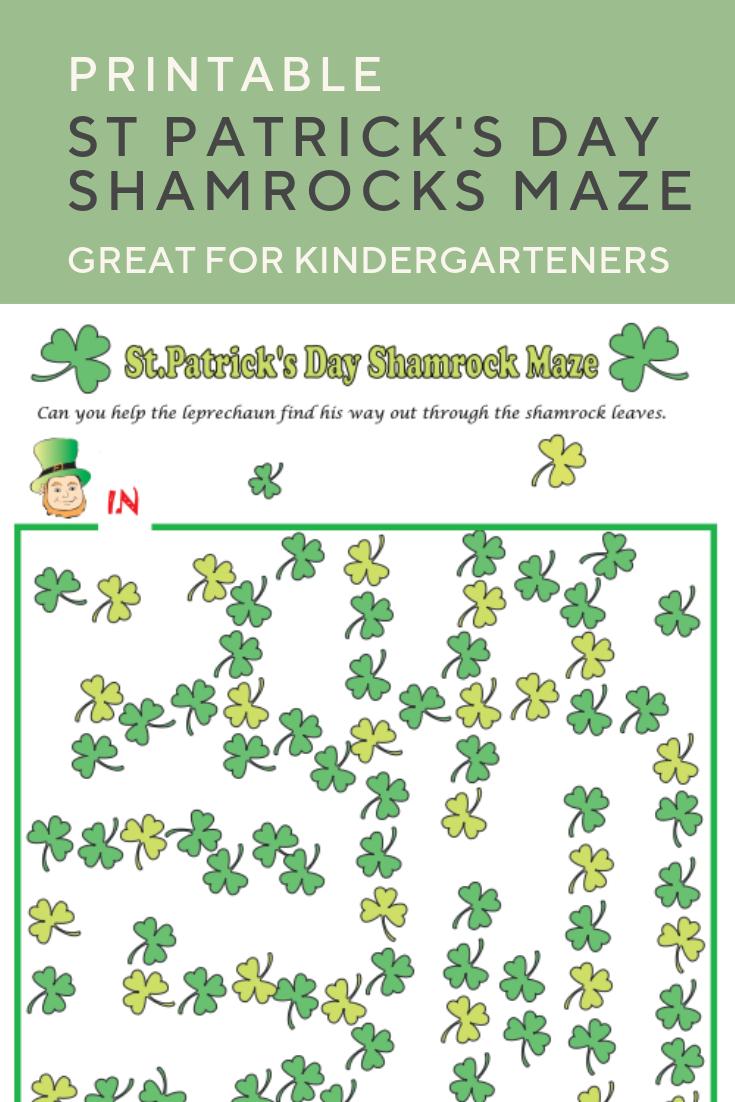 Shamrocks Maze Worksheet Education Com Preschool Reading Kindergarten Math Worksheets Parents As Teachers [ 1102 x 735 Pixel ]