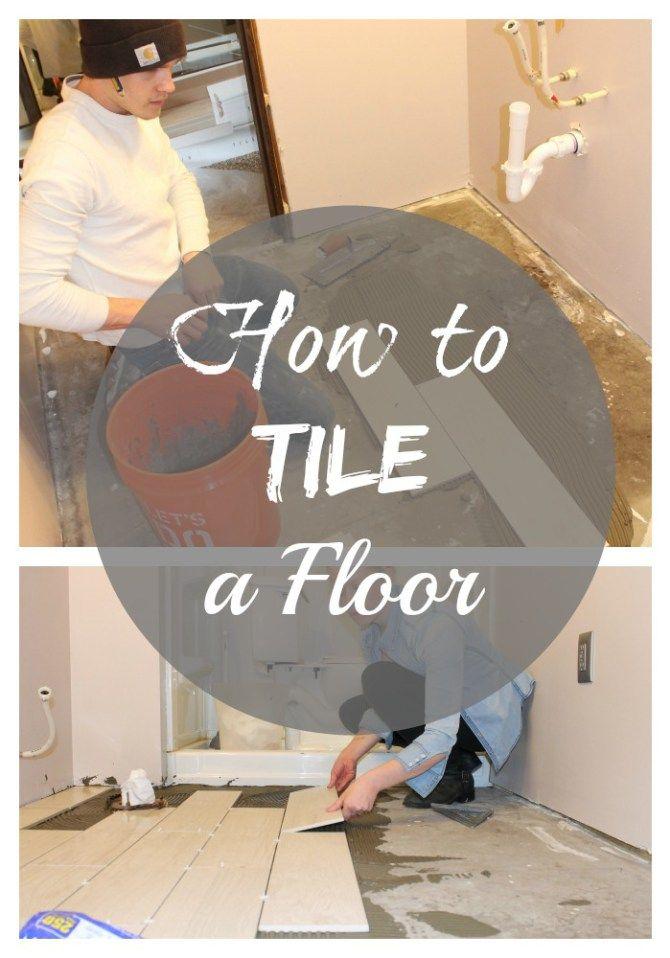 Diy Tile Flooring Installation House Tile Flooring And Basements