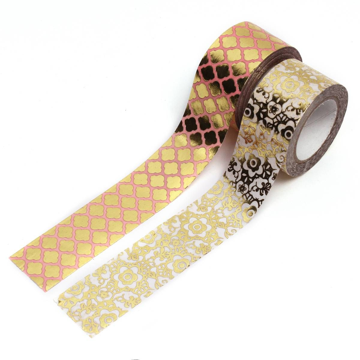 Little B Floral and Moroccan Gold Washi Tape Bundle 2 Pack | Gold ...