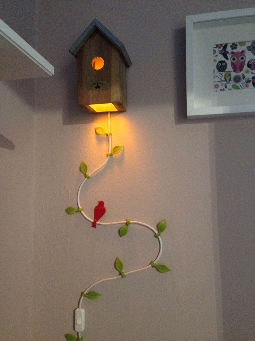 Vogelhaus mit LED Lampe Lampe kinderzimmer, Lampen, Led