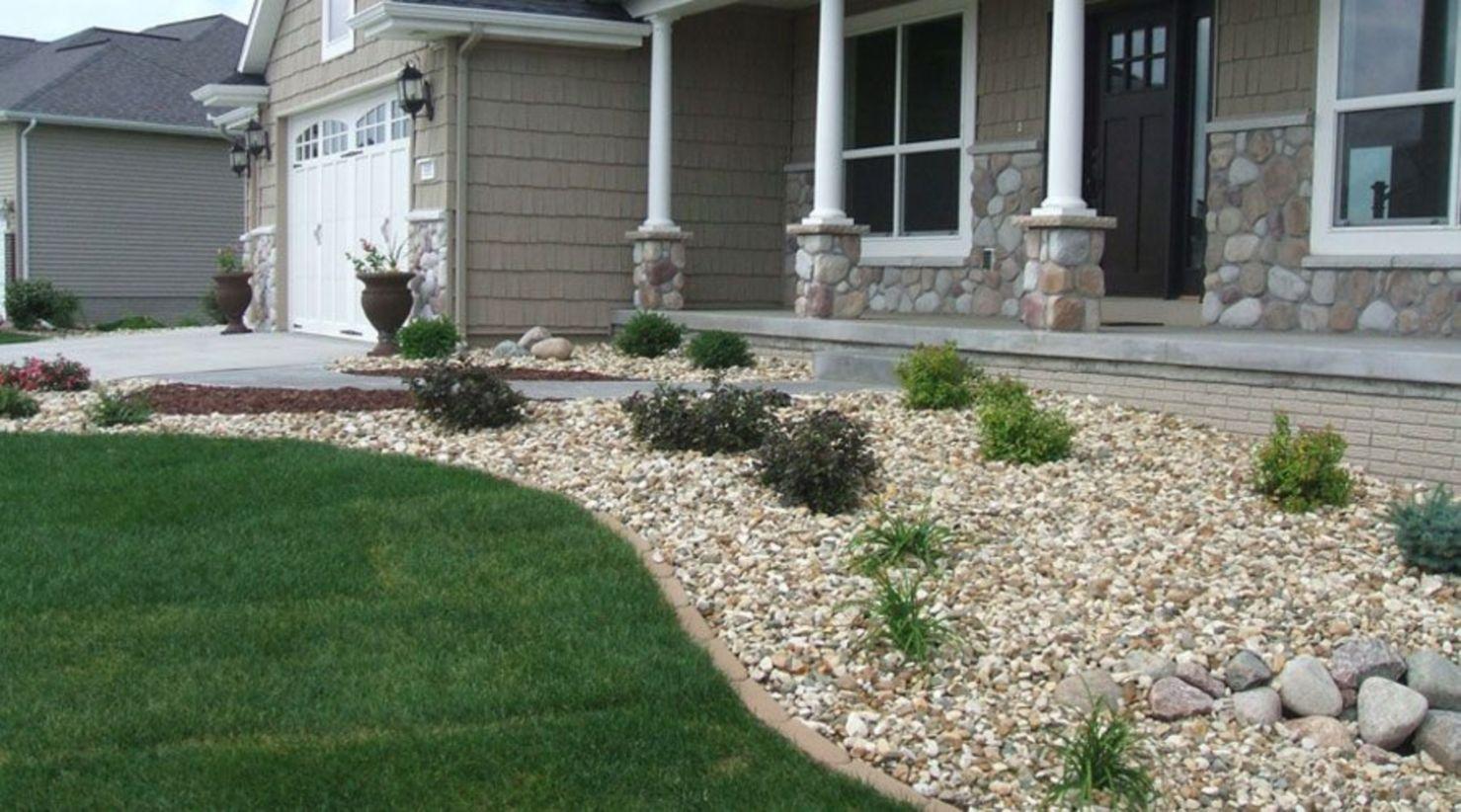 53 Great Front Yard Rock Garden Ideas Landscaping around