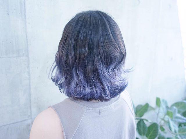 まなみcolor グラデーション ブルーラベンダー Shachu Hair Bob