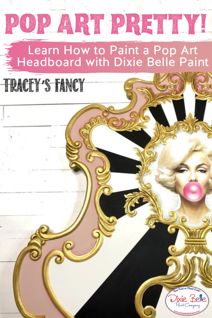 """How to Paint a Pop Art Bed is part of Pop art bedding, Dixie belle paint, Painting furniture diy, Pink painted furniture, Painted furniture for sale, Paint companies - It's better to be absolutely ridiculous than absolutely boring """"   Marilyn Monroe When I first Read More"""