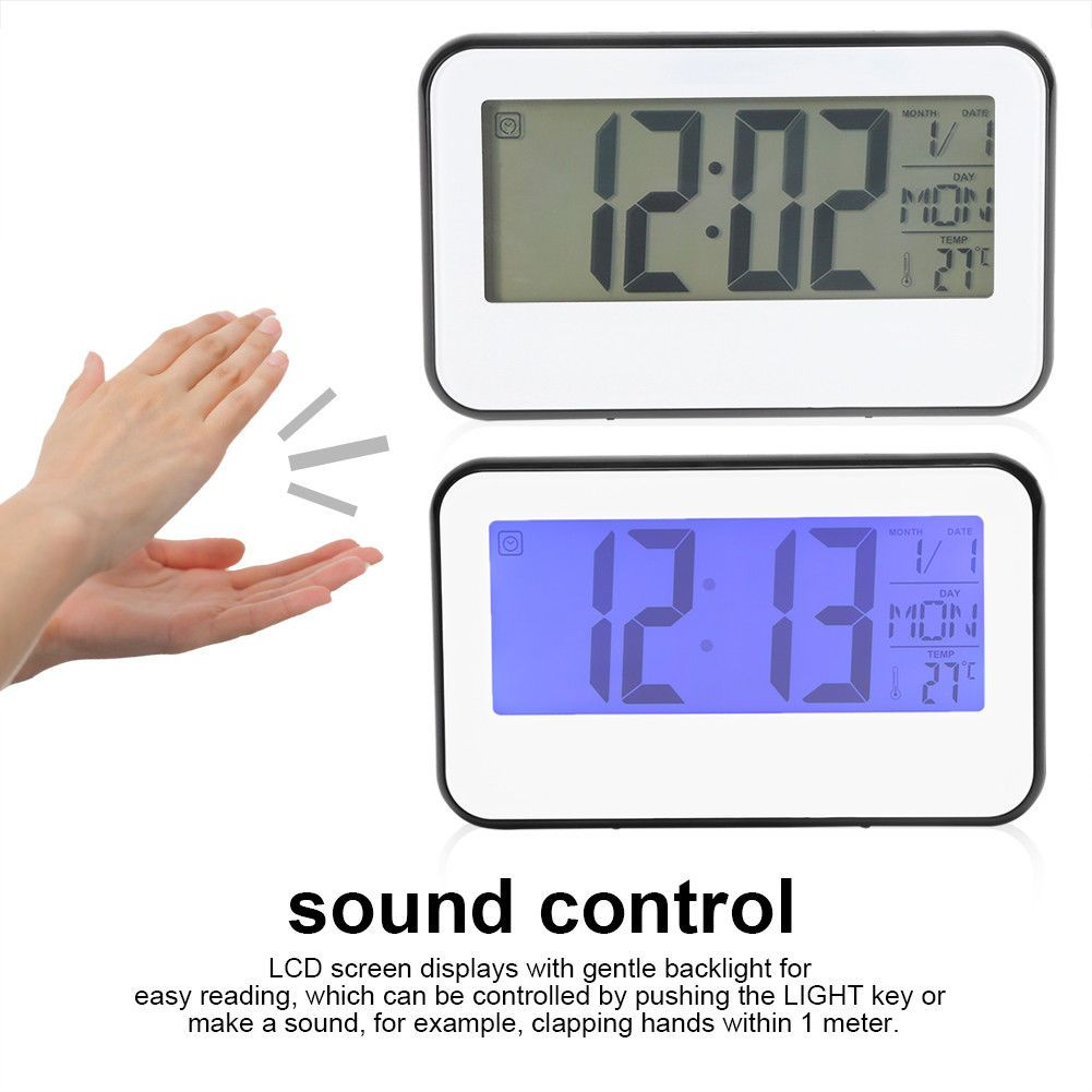 Vintage industrial clock double sided factory clock brilli 233 - 1pc Lcd Display Digital Alarm Clock Thermometer With Sound Control Backlight Js