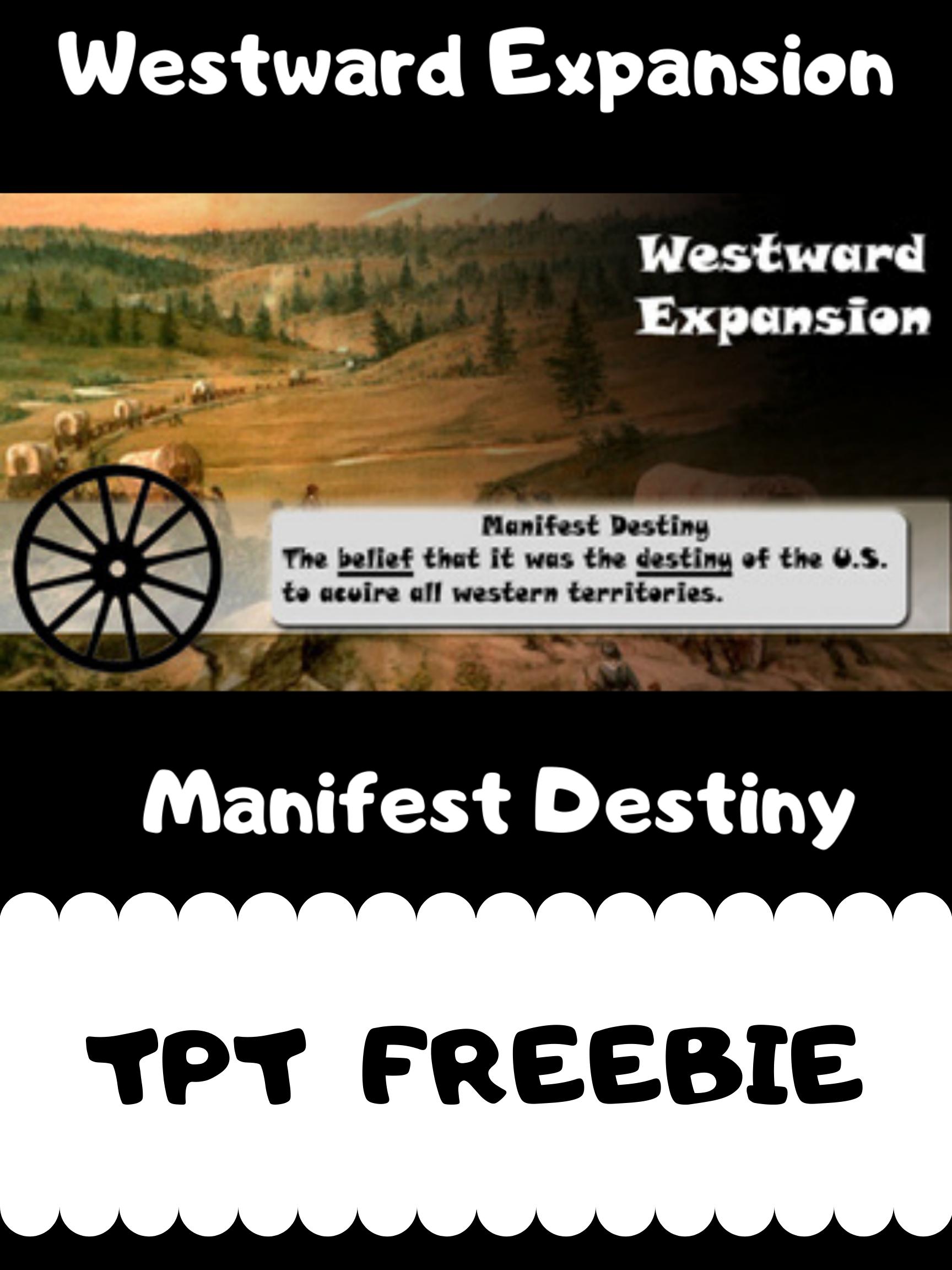 Westward Expansion Manifest Destiny Poster In