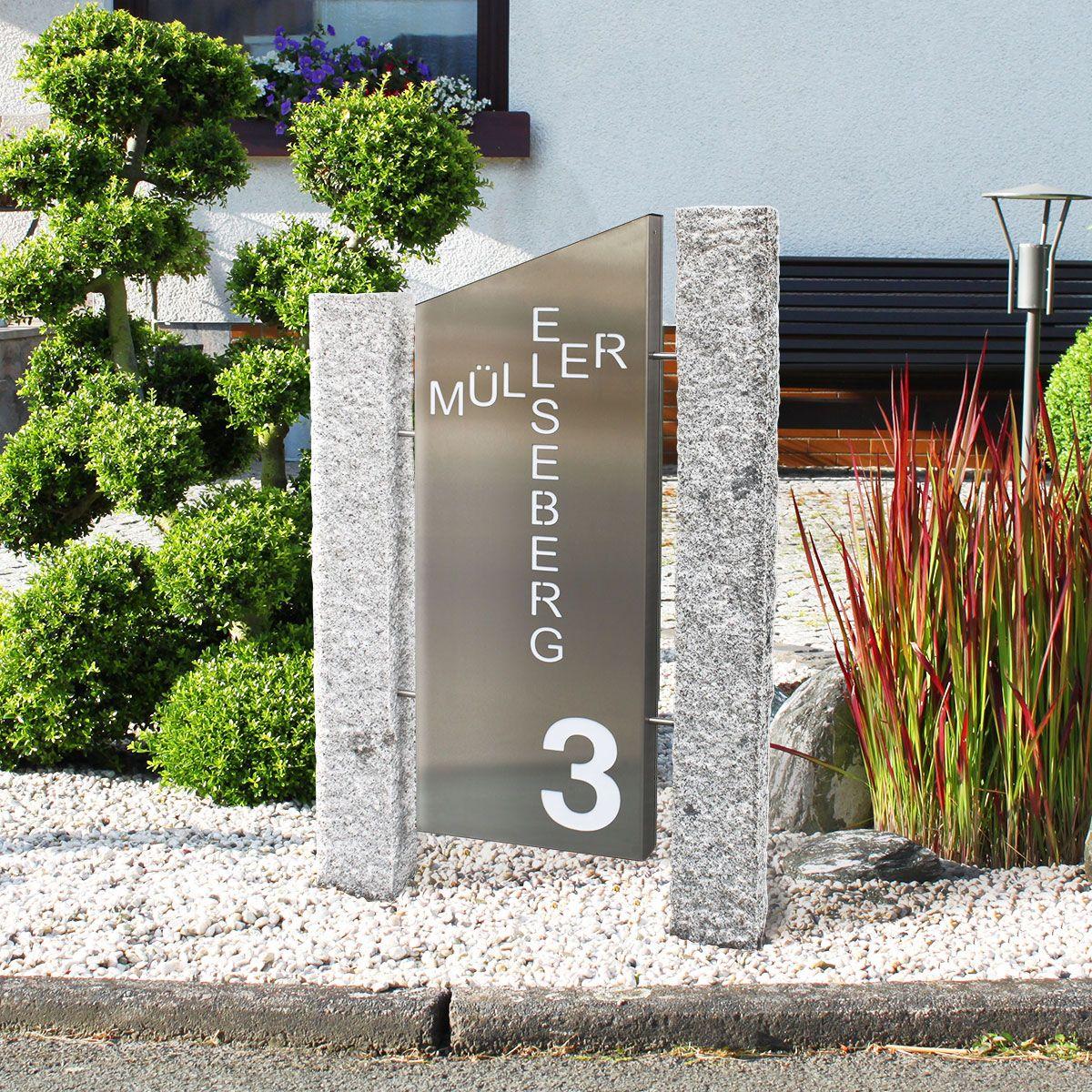 Led Stele Saule Storto Beleuchtet Mit Individuellem Schriftzug Beleuchtete Led Metall Saule Stele Wird Nach Kunden Hausnummer Beleuchtet Led Hausnummern