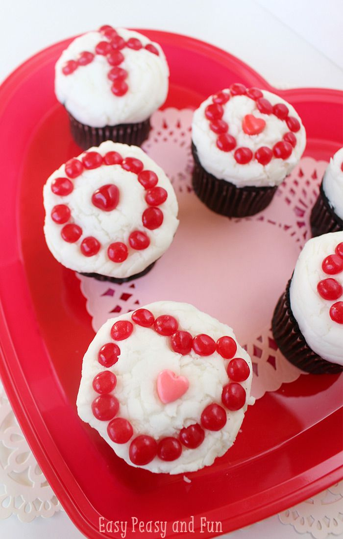 Xoxo Valentines Day Cupcakes Pinterest Easy Peasy Easy And