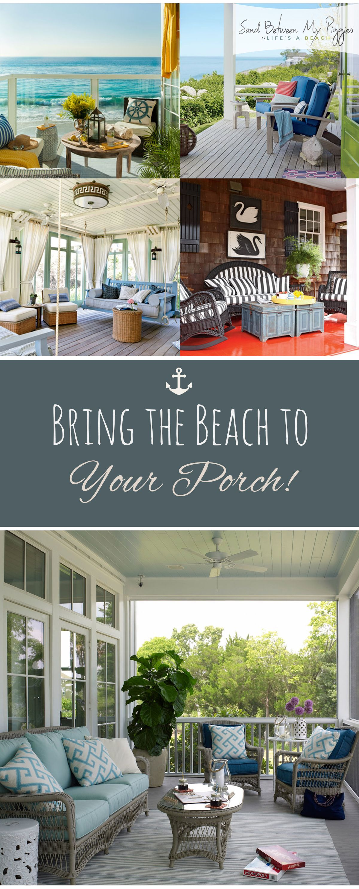 Bring The Beach To Your Porch With Images Coastal Porch Decor