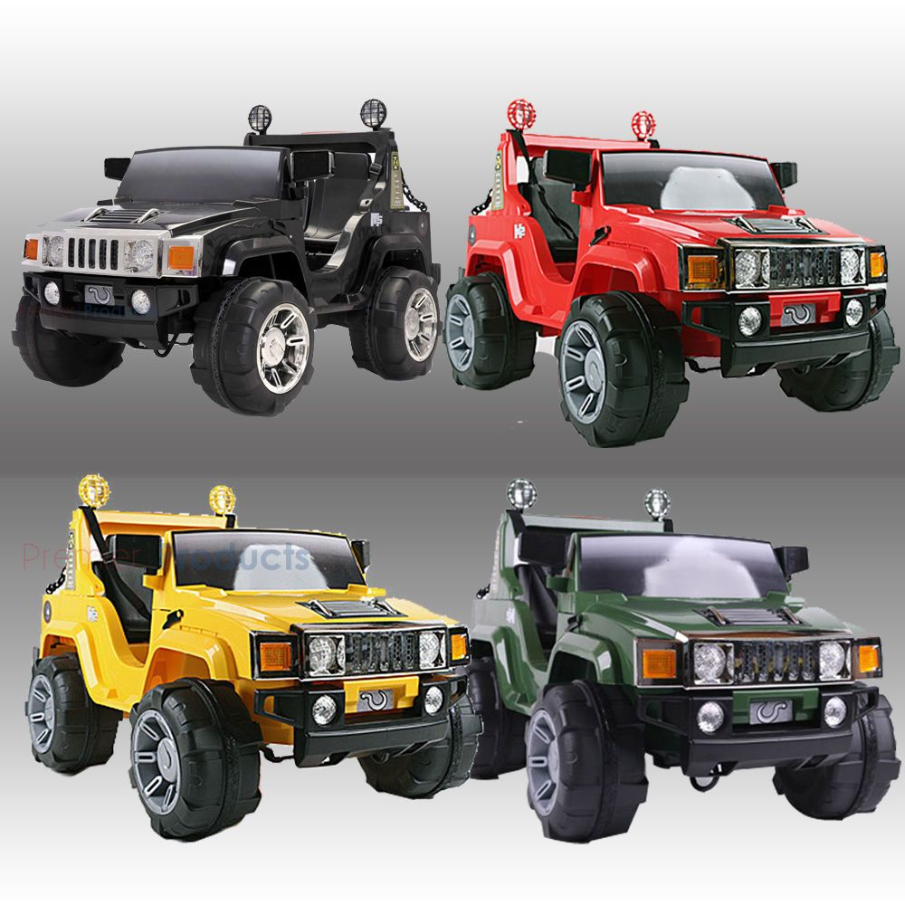 Kids Ride On Big Jeep Electric Childrens 12v Hummer Two Seater Toy