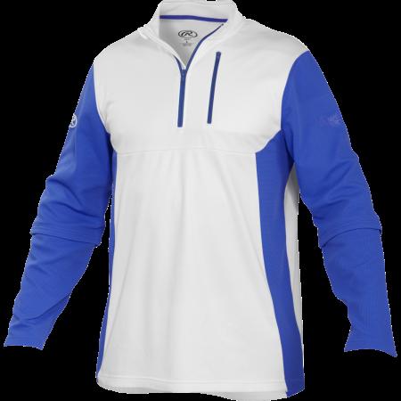 Rawlings Unisex Youth Quarter Zip Long Sleeve Baseball Jacket