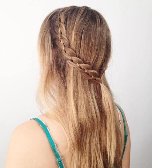 peinados con trenzas fciles y sencillas - Peinados De Trenzas Faciles