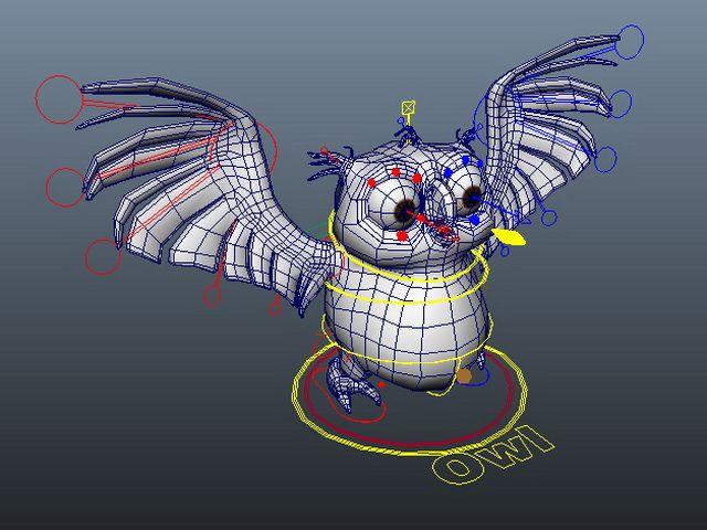 Cartoon owl rigged 3d model | Rigs in 2019 | Owl cartoon, Character